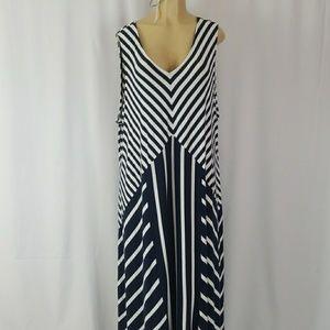 Lane Bryant Maxi Dress plus Sz 26 navy blue/black